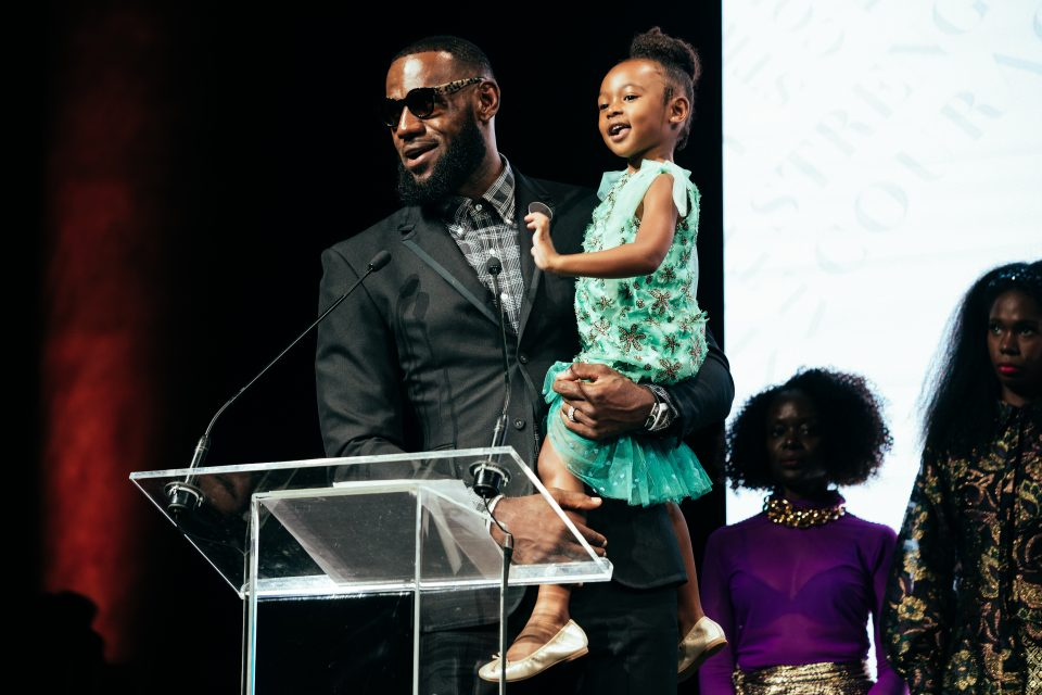 LeBron James reveals a surprise at Harlem's Fashion Row showcase